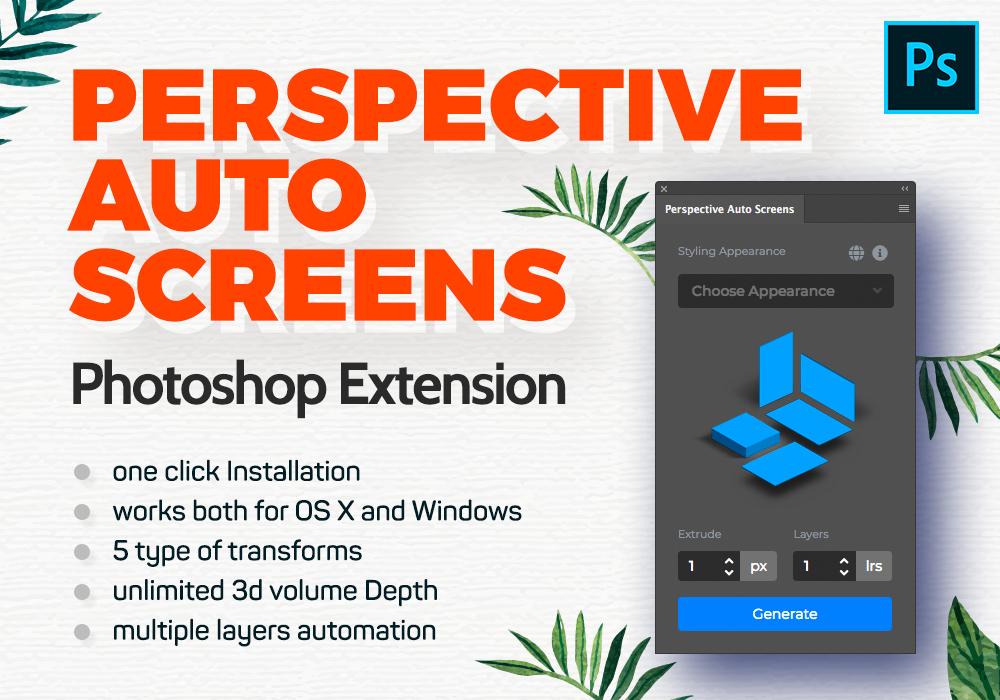 Isometric Showcase Photoshop Plugin